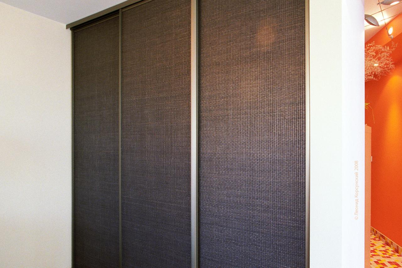Раздвижные двери Командор с ротангом